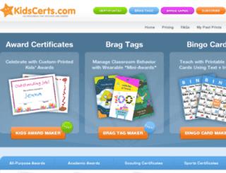 dev0.kidscerts.com screenshot