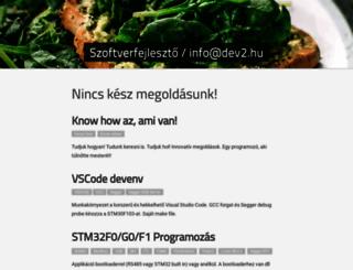 dev2.hu screenshot