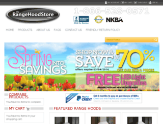 dev2.therangehoodstore.com screenshot