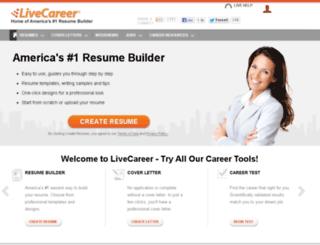 dev6.livecareer.com screenshot