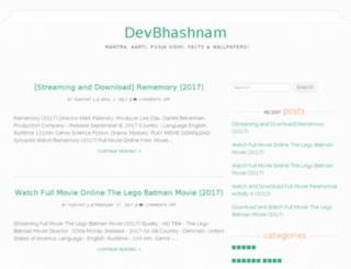 devbhashnam.com screenshot