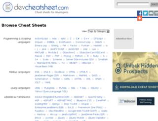devcheatsheet.com screenshot