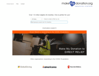 devdonate.makemydonation.org screenshot