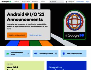 developer.android.com screenshot