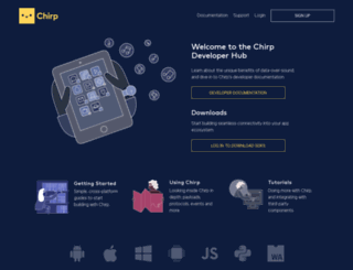developer.chirp.io screenshot