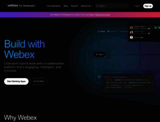 developer.ciscospark.com screenshot