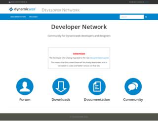 developer.dynamicweb-cms.com screenshot
