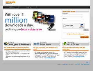 developer.getjar.com screenshot