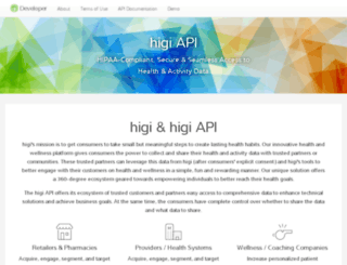 developer.higi.com screenshot