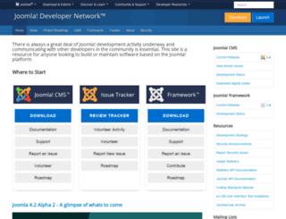 developer.joomla.org screenshot