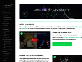 developer.leapmotion.com screenshot