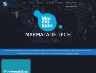 developer.madewithmarmalade.com screenshot