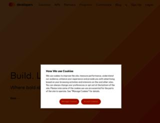 developer.mastercard.com screenshot