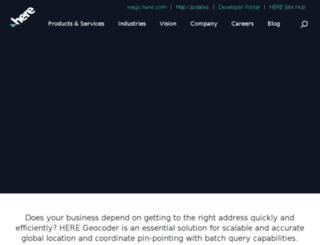 developer.navteq.com screenshot