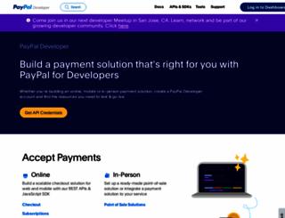 developer.paypal.com screenshot