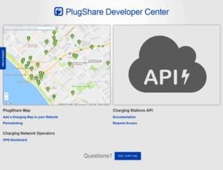developer.plugshare.com screenshot