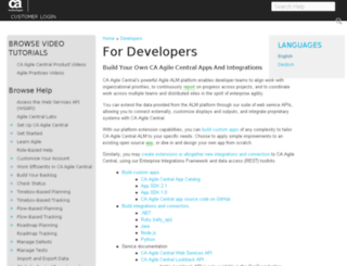developer.rallydev.com screenshot