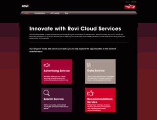 developer.rovicorp.com screenshot