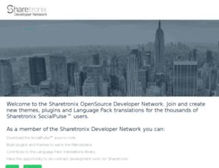 developer.sharetronix.com screenshot
