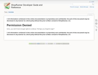 developer.shoprunner.com screenshot