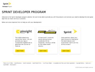 developer.sprint.com screenshot