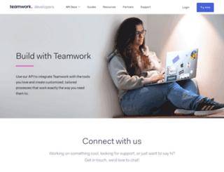 developer.teamwork.com screenshot
