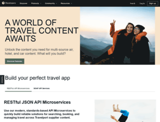 developer.travelport.com screenshot
