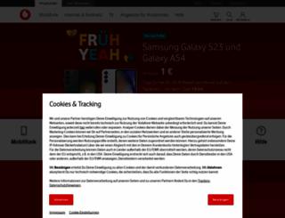 developer.vodafone.de screenshot