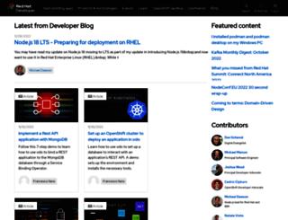 developerblog.redhat.com screenshot