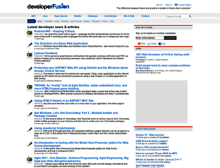 developerfusion.com screenshot