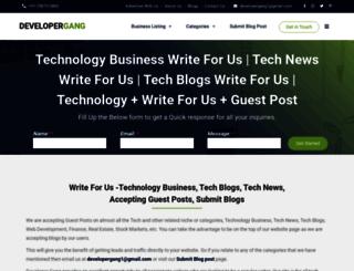 developergang.com screenshot