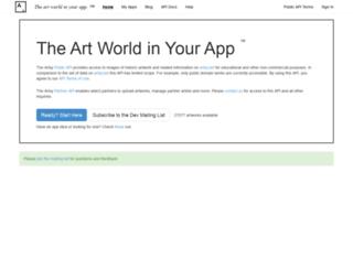 developers.artsy.net screenshot