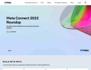 developers.facebook.com screenshot