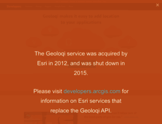 developers.geoloqi.com screenshot