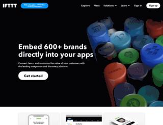 developers.ifttt.com screenshot