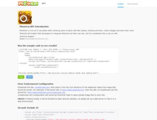 developers.photocat.com screenshot