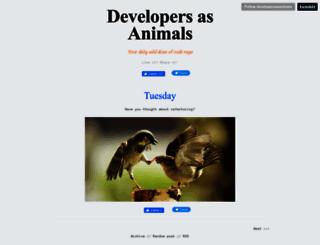 developersasanimals.tumblr.com screenshot