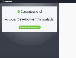 development.clickwebinar.com screenshot