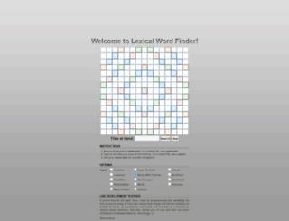 development.lexicalwordfinder.com screenshot