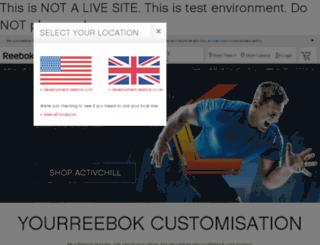 development.reebok.co.uk screenshot