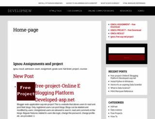 developnew.com screenshot