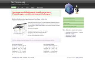 developpeurs-web.servhome.org screenshot