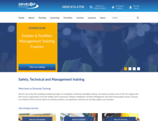 developtraining.co.uk screenshot