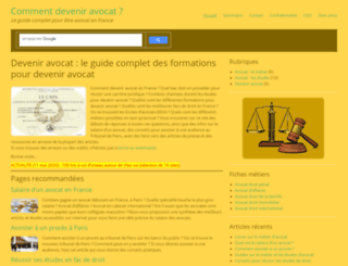 devenir-avocat.fr screenshot