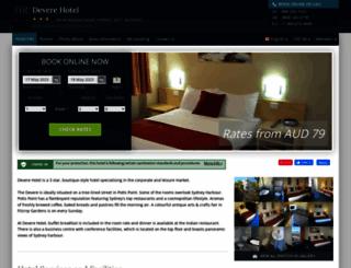 devere-hotel-sydney.h-rez.com screenshot