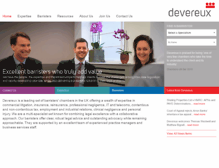 devereuxchambers.co.uk screenshot