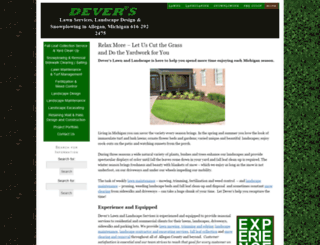 deverslawnlandscape.com screenshot