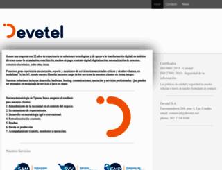 devetel.cl screenshot