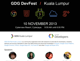 devfestkl.appspot.com screenshot