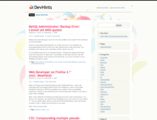 devhints.wordpress.com screenshot